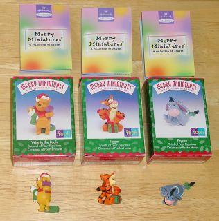 Merry Miniatures Winnie Pooh Tigger Eeyore Figurine Hallmark