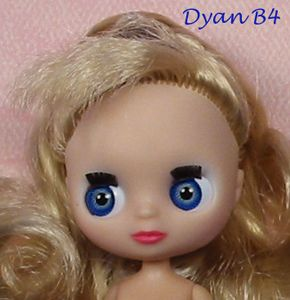 Dyan OOAK Custom Mini 4 Blythe Dressed Doll Repaint by Ellen Harris
