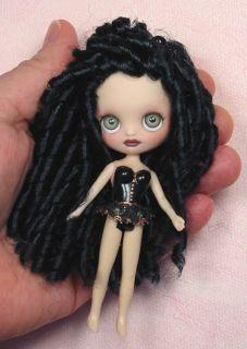 Dyan OOAK Custom Mini 4 Blythe Dressed Doll Repaint by Ellen Harris