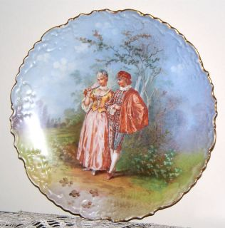 Genuine Limoges France Porcelain Vintage Antique HP Portrait Plate for