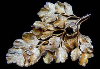 Flora Danica Denmark Signed Eggert 925 Sterling Silver Parsley Leaf