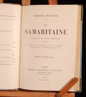 1908 Edmond Rostand La Samaritaine Play Theatre French