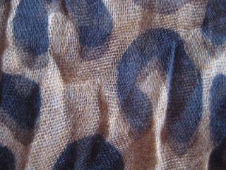 Louis Vuitton Stephen Sprouse Marron Leopard print stole/scarf