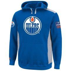 Edmonton Oilers Hat Trick Blue Hooded Sweatshirt Hoody Pullover Hoodie