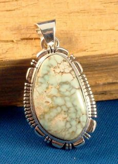 Native American Navajo Indian Jewelry Dry Creek Turquoise Pendant