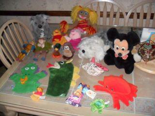 Hand Finger Puppets Lot Baby Einstein Folkmanis Disney Vintage Mickey
