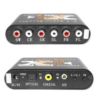 1CHANNEL Ac3 DTS Audio Gear Digital Surround Sound Rush Decoder