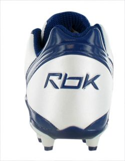 Reebok NFL Bunner Speed Low M3 FB Mens Football Shoes White Blue Size