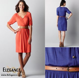 Ann Taylor Loft Petite Peasant Top Jersey Dress 8P 14P $79 5
