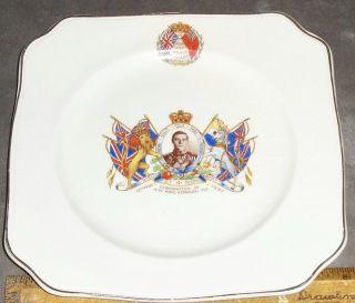 Coronation of H M King Edward VIII Plate 1937