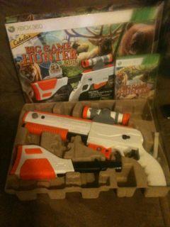 Cabelas Big Game Hunter 2012 Nintendo Wii Game w Gun Top Shot Elite