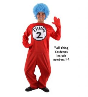 Dr Seuss Thing 1 2 Costume Adult Large Extra Large New