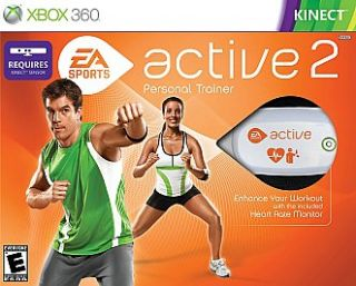 Ea Sports Active 2 New Xbox 360 Includes SEALED Game and Heart Monitor