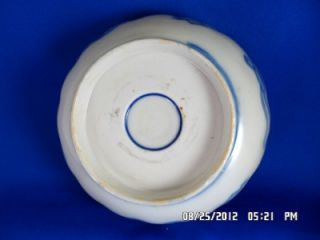 RARE Antique Chinese Japanese Imari Blue Cobalt Red Bowl Meiji 6 Wide