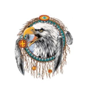Eagle Beautiful Native American Dreamcatcher Dream Catcher White T
