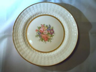 Edwin M. Knowles Royal China 10 dinner plate cream with floral design
