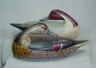 Illinois River Pintail Duck Decoy Pair by Jim Slack