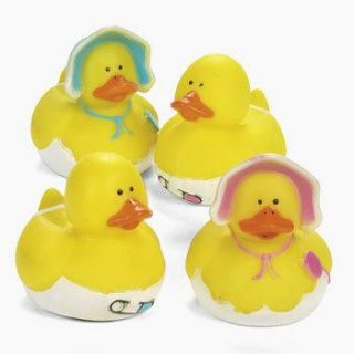 12 Boy Girl Baby Shower Rubber Ducks Dozen Ducky Favors