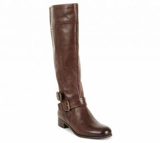 Nine West Shiza Tall Leather Boots Hot Fudge Brown 8 5 Wide Calf New