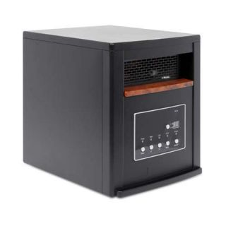 4P1500 Hom 1500 Watt Black Infrared Quartz Electric Heater ★