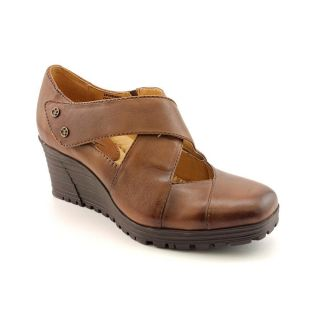 Earth Spindrift Womens Size 7 Brown Full Grain Leather Wedges Shoes