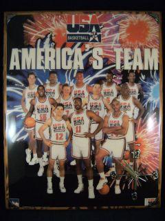 USA OLYMPIC Basketball Americas Team Dream CLOCK Jordan Magic Barkley