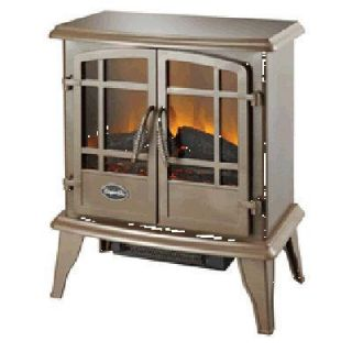CG Keystone Electric Fireplace Heater Stove Bronze The Look and Feel