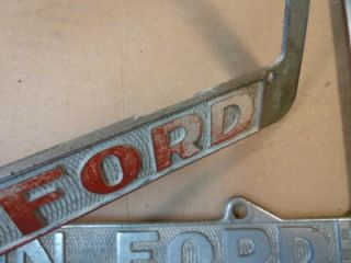 Vintage License Plate Frames Dunton Ford Santa ANA CA