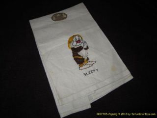 1938 Walt Disney Enterprises Snow White Sleepy Kitchen Towel Louis