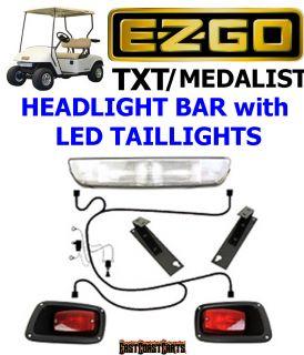 Golf Cart Headlight Taillight Kit Freedom Head Light Bar Kit