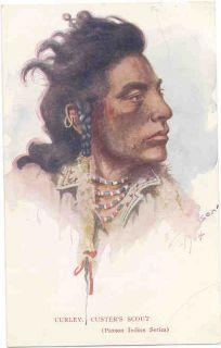 Montana Artist E s Paxson Curley C 1908 Postcard
