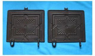 antique cast iron cook stove wood stove doors liberty royal cast iron