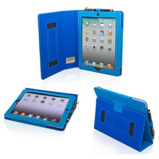 Snugg Electric Blue PU Leather iPad 2 Case Cover and 2 Position Flip