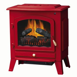 Riverstone Electric Stove Fireplace Heater RED Fully Assembled  Free