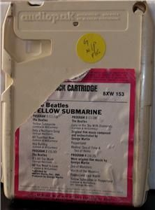 Beatles Yellow Submarine Capitol Vintage 8 Track Tested Late Nite