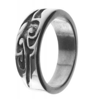 Alpaca Silver Ring R4 Maori Tribal Art Tattoo Size 12
