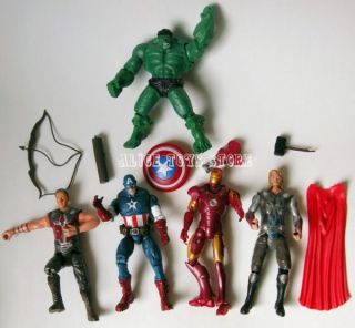 7pc Marvel The Avengers Heros Hulk Captain America Iron Man Thor