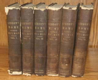 1854 Set 6 Volumes Gibbons History of The Roman Empire Ancient Rome