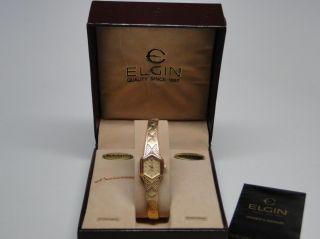 new vintage elgin ladies diamond quartz wrist watch nos this item has