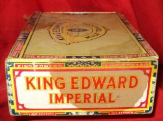 King Edward The Seventh VII Imperial Cigar Box 6 Cent Factory 15