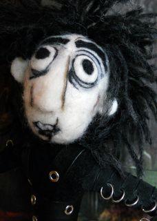 Needle Felted OOAK 12 Doll Tim Burtons Edward Sissorhands