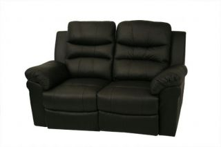 Elias Home Theater Seats 2pc Black Seat Recliner Chairs