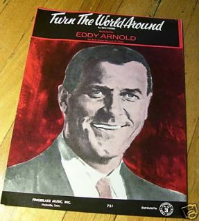 Turn The World Around Eddy Arnold Sheet Music 1967