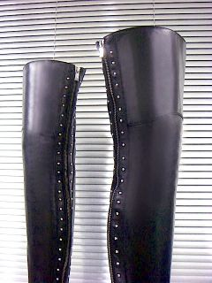 Mori Luxury Extreme Zip Overknee Made in Italy Stiefel Boots Leder