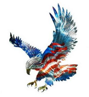 Awesome 3 D Majestic Eagle Outdoor Wall Art 19 x 19