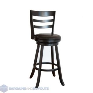 Hillsdale 24 in. Eagle Point Swivel Counter Stool   Black Finish