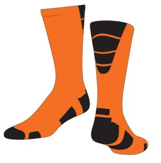 Goalline Vapor Elite Socks Orange Black Large proDRI fabric BNIB