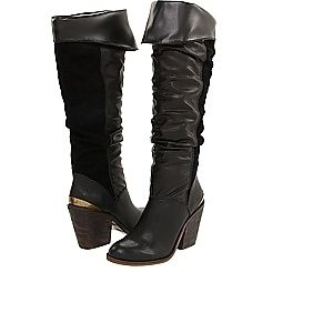 New Gorgeous Womens Black Lucky Brand Edina Tall Knee High Boots Size