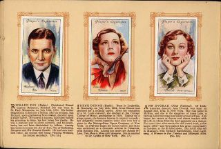 Tobacco Card Album & Cards,John Player & Sons,Actor,Actress, FILM STAR