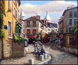 SAM PARK Montmartre landscape Hand Signed Fine Art, Submit your Best